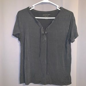 Grey American Eagle Soft and Sexy Tee